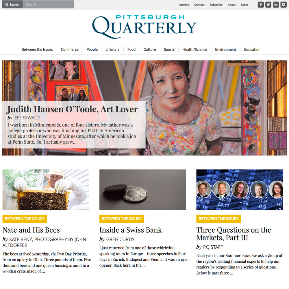 Pittsburgh Quarterly - Website